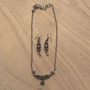 BRIGHTON necklace and earring set.
